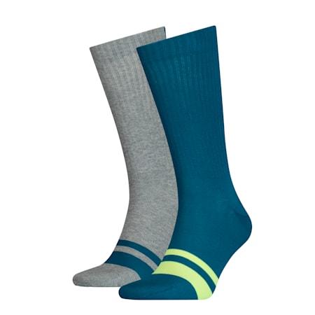 Confezione doppia di calze Seasonal Logo da uomo, petrol blue, small