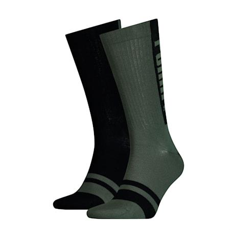 Confezione doppia di calze Seasonal Logo da uomo, army green, small