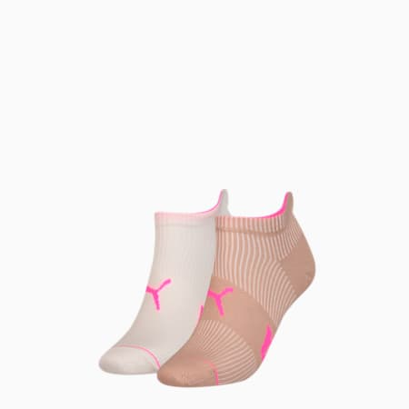 Ribbed Women's Trainer Socks 2 Pack, nomad, small