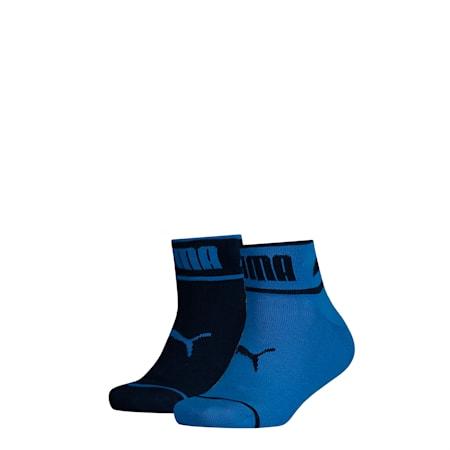 Seasonal Logo Youth Quarter-Socken 2er Pack, blue, small