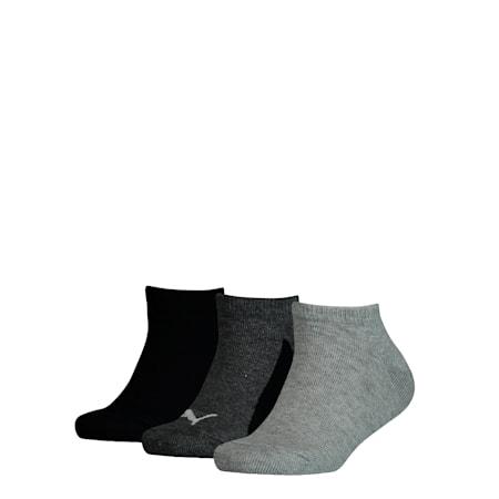 Youth Sneaker-Socken 3er Pack, black, small