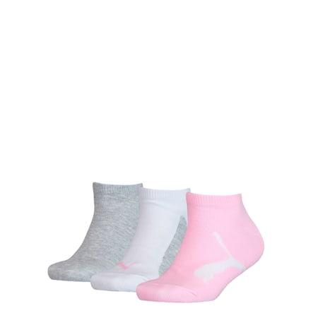 Lot de 3 paires de chaussettes pour basket Youth, pink / grey, small