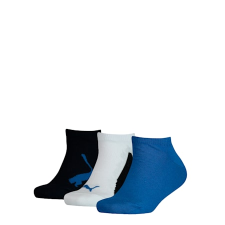 Youth Trainer Socks 3 Pack, navy / white / strong blue, small