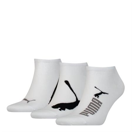 PUMA Unisex 3 pack Sneaker Socks, white, small-SEA