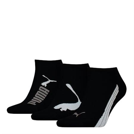 PUMA Unisex 3 pack Sneaker Socks, black, small-SEA