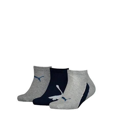 PUMA Kids Sneaker Socks 3P, light grey melange, small-SEA
