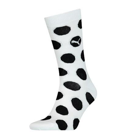 Printed Socks 1 Pack, white, small-SEA