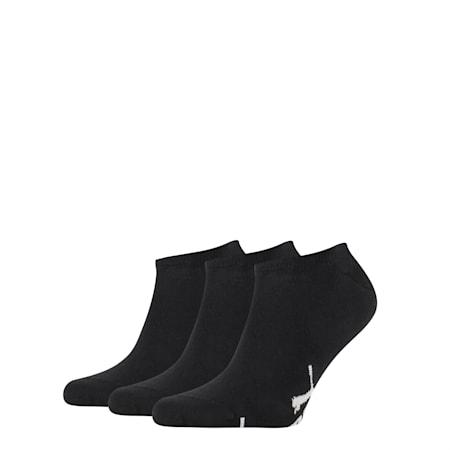 PUMA Unisex No Show Socks 3P, black, small-SEA