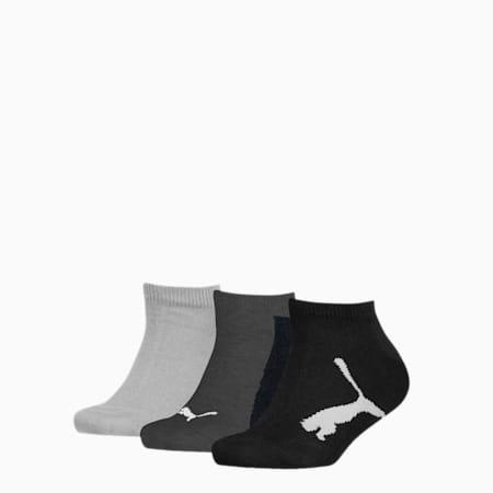 PUMA Kids' BWT Sneaker - Trainer Socks 3 pack, black, small
