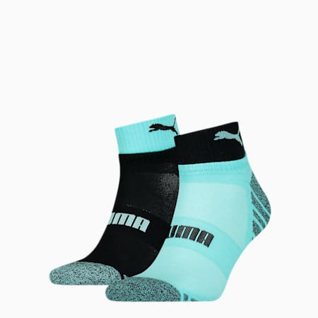 Men's Seasonal Quarter Socks 2 pack, blue / black, small