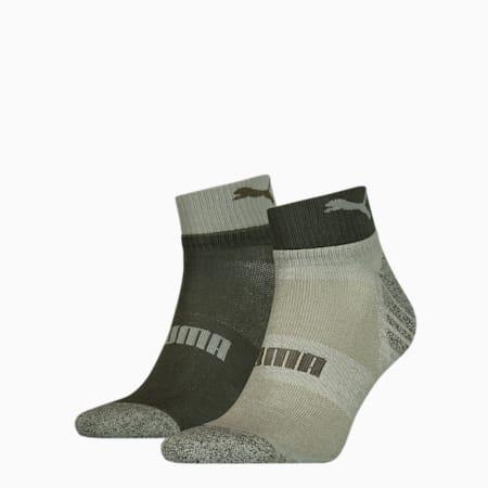 Men's Seasonal Quarter Socks 2 pack, green, small-GBR
