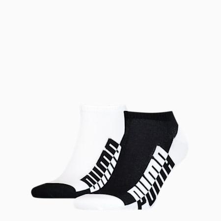 Men's Seasonal Sneaker Socks 2 pack, black / white, small