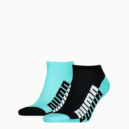 Pack de 2 pares de calcetines tobilleros de temporada para hombre, blue / black, small
