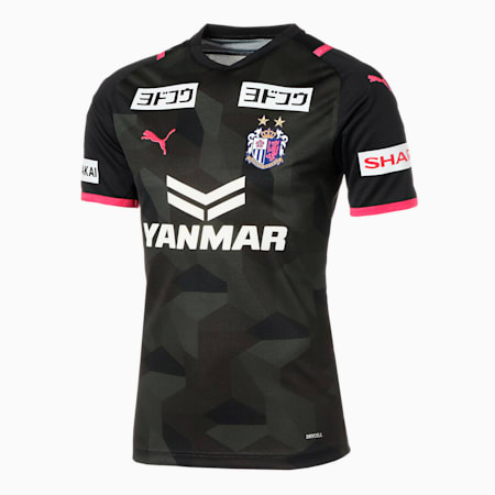 セレッソ 2021 GK ゴールキーパー 半袖 ゲームシャツ ユニフォーム, Black, small-JPN