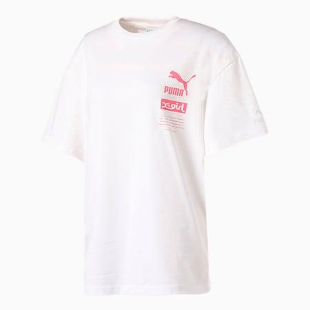 PUMA x X-girl 半袖 Tシャツ, puma white, small-JPN