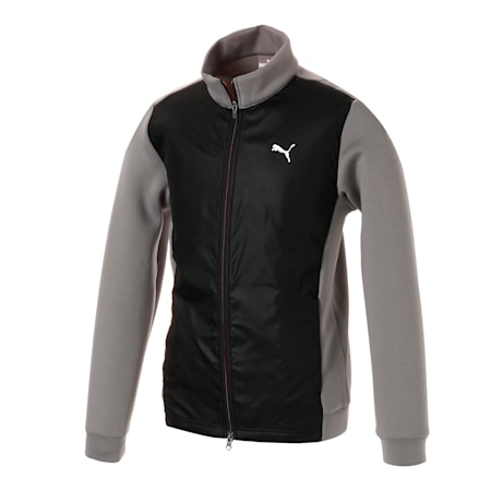 ゴルフ PUMAロゴ ウィンドブロック ジャケット, Medium Gray, small-JPN