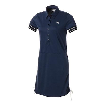 ゴルフ ウィメンズ リボン SSドレス, Peacoat, small-JPN