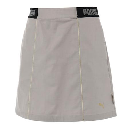 ゴルフ ウィメンズ シャンブレー スカート, Medium Gray Heather, small-JPN