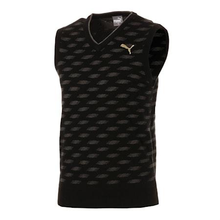 ゴルフ Vネック ニット ベスト, Puma Black, small-JPN