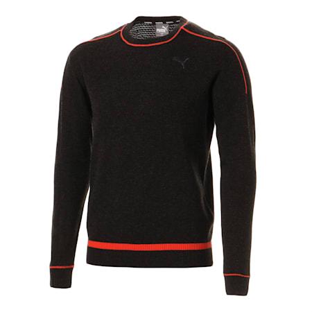 ゴルフ クルーネック セーター, Dark Gray, small-JPN