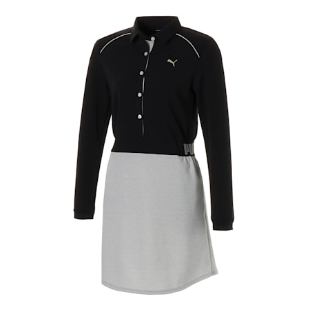 ゴルフ ウィメンズ バイ カラー ドレス, Puma Black - Medium Gray Hea, small-JPN