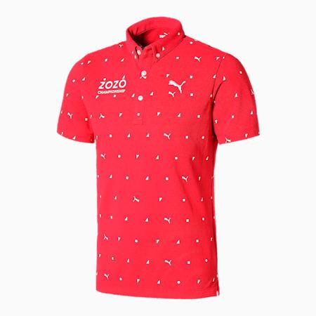 ゴルフ トーナメント ドットポロシャツ, High Risk Red, small-JPN