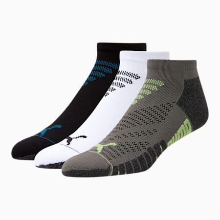 Men's Terry Low-Cut Socks (3 Pack), BLUE / BLACK, small