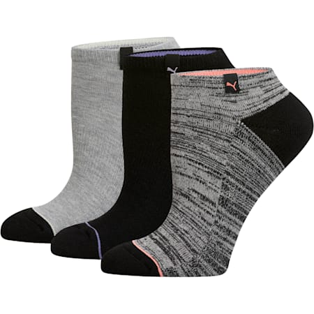 Women's No Show Socks (3 Pack), MD COMBO, small