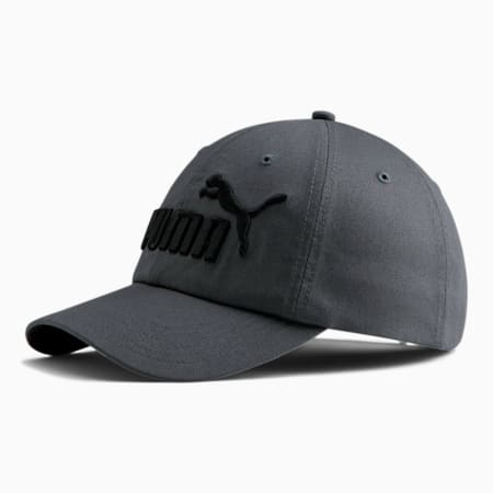 PUMA #1 Relaxed Fit Adjustable Hat, GREY / BLACK, small