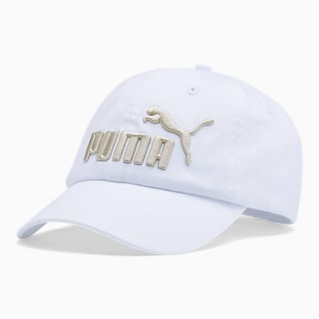 PUMA #1 Relaxed Fit Adjustable Hat, White, small