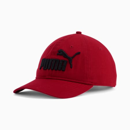PUMA #1 Relaxed Fit Adjustable Hat, Burgundy, small