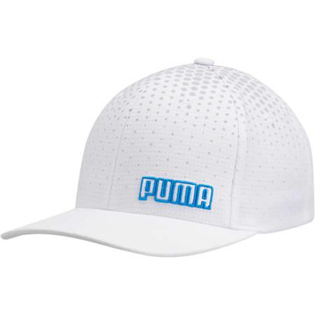 Glacier Performance FLEXFIT Cap, White/Blue, small