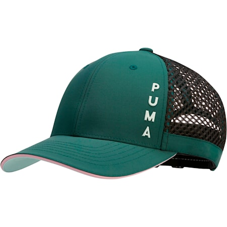 Upward Performance Women's Adjustable Cap, Dark Green, small