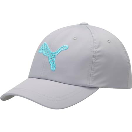 Steep Performance Women's Adjustable Cap, GREY/BLUE, small