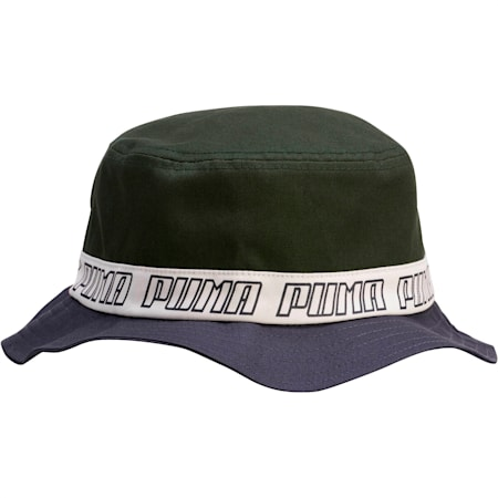 PUMA Bucket Hat, Navy/Green, small