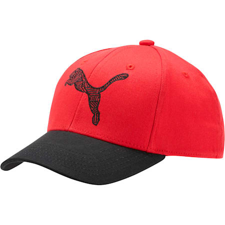 The Podium Adjustable Cap, BLK/RED, small