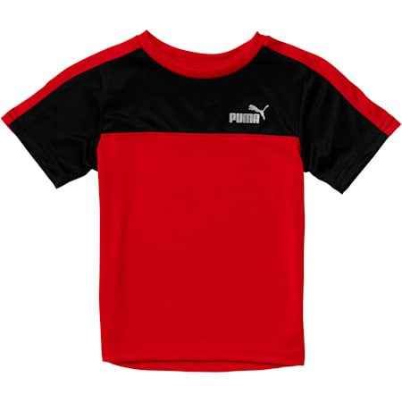 Toddler Poly Interlock Pieced Tee, HIGH RISK RED, small
