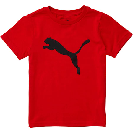Little Kids' Cotton Jersey Heather Tee, HIGH RISK RED, small