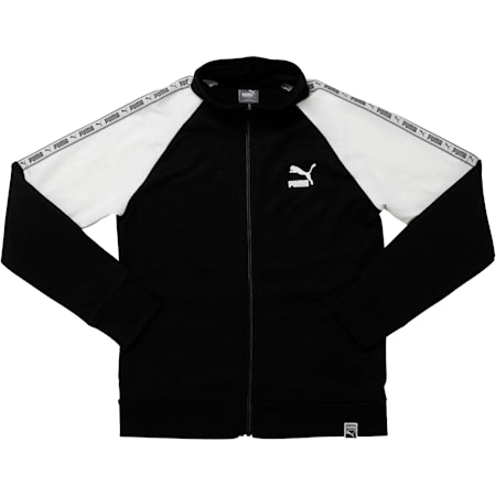 Boys' Terry Track Jacket JR, PUMA BLACK, small