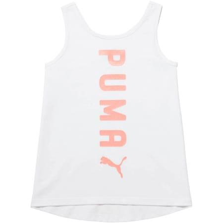 Camiseta sin mangas Crossover Fashion para niñas, PUMA WHITE, pequeño