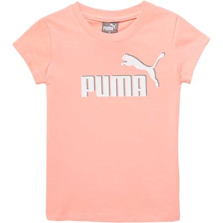 Camiseta de jersey de algodón con logo para bebés, PEACH BUD, pequeño