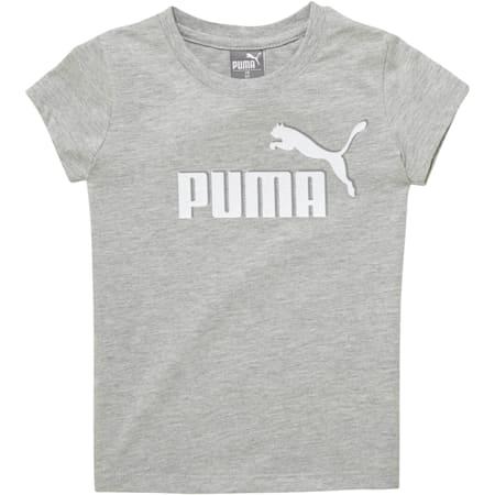 Camiseta de jersey de algodón con logo para bebés, LIGHT HEATHER GREY, pequeño
