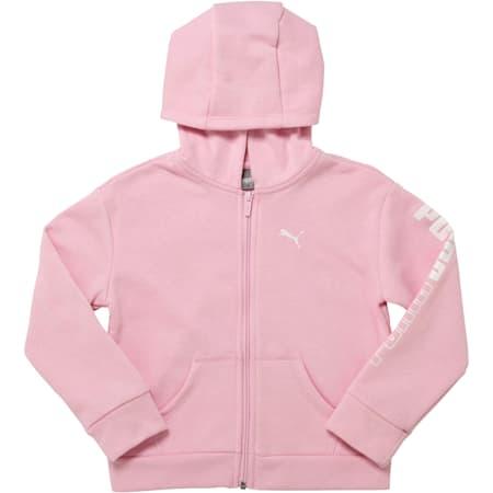 Little Kids' Fleece Full Zip Hoodie, PALE PINK, small