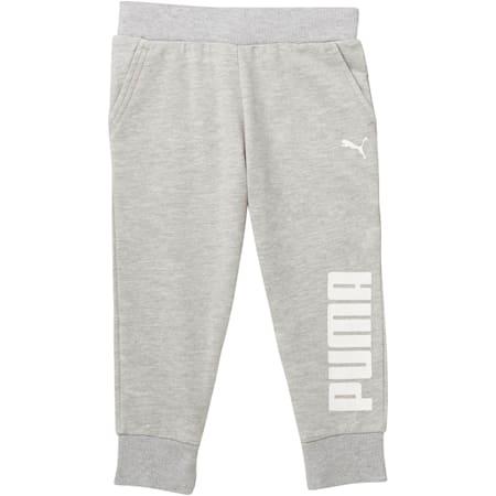Pantalones capri para correr para niñas, LIGHT HEATHER GREY, pequeño
