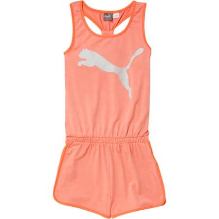 Girls' Fashion Romper JR, PEACH BUD HEATHER, small