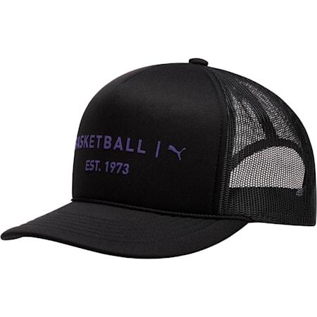 Core Mesh Trucker Hat, BLACK / PURPLE, small