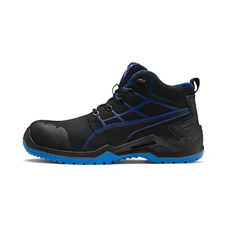 Bezpieczne buty Krypton Blue Mid, schwarz/blau, small