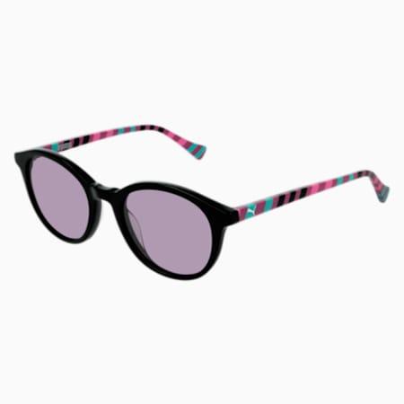 PUMA Kids Round Sunglasses, BLACK, small