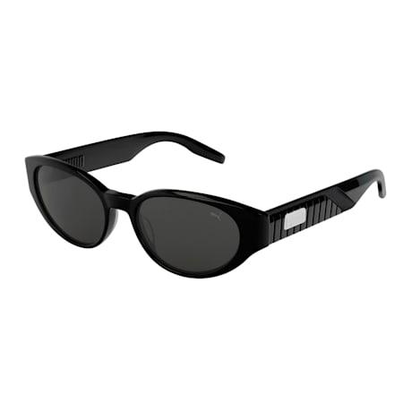 ウィメンズ PU0228S サングラス, BLACK-BLACK-SMOKE, small-JPN