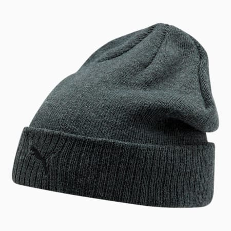 Sitio de PUMA Gorro de lana con dobladillo para hombre, Carbón, pequeño
